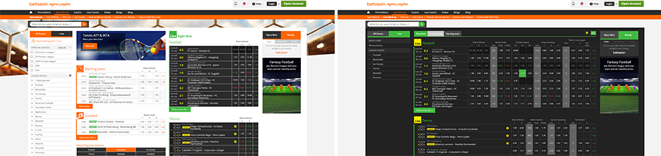 Betsson Sport screenshots