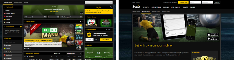 Bwin Sports SCREENSHOT