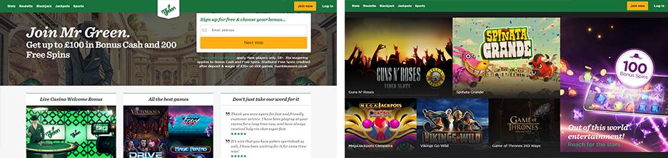 Mr Green Casino screenshot