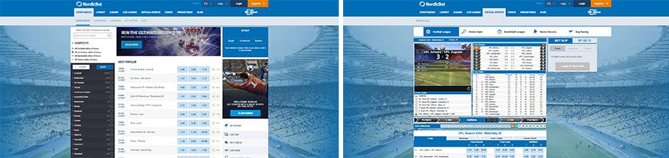 Nordicbet Sport screenshots