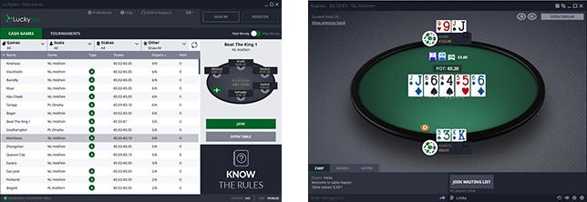 PAW FE Rooms screenshots Luckybet poker