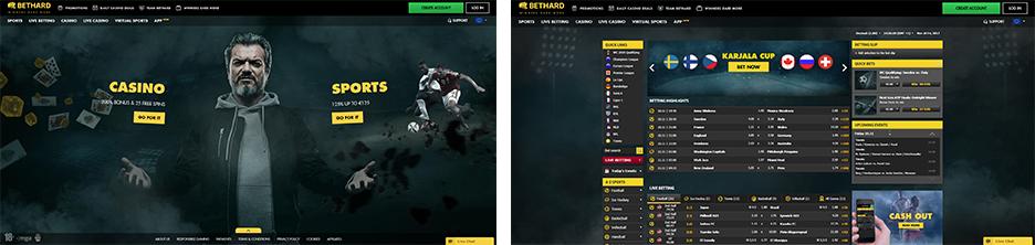 Rooms screenshots Bethard Sport
