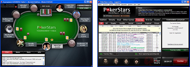 Rooms screenshots pokerstars